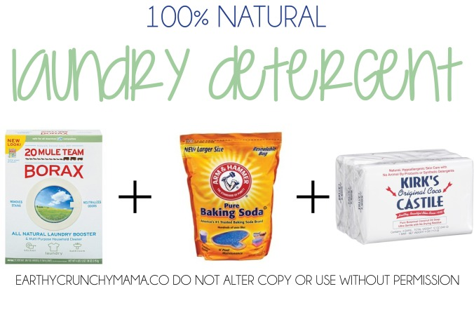 100% natural laundry detergent - EarthyCrunchyMama.Co